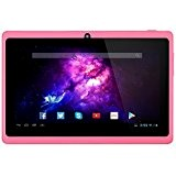 Alldaymall A88X Tablette tactile 7 pouces - Android 4.4, Quad Core, 1024x600 HD, double caméra, Bluetooth, Wi-Fi, 8GB, jeux 3D ...