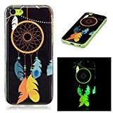 Coque iPhone 5C, LuckyW Housse Etui Night Lumious Nuit lumineuse TPU Silicone Clear Clair Transparente Gel Slim Case pour Apple ...
