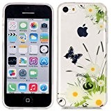 Coque iPhone 5C, LuckyW Housse Etui TPU Silicone Clear Clair Transparente Gel Slim Case pour Apple iPhone 5C Soft de ...
