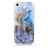 Coque iPhone 5C, LuckyW Housse Etui TPU Silicone Clear Clair Transparente Gel Slim Marbre Case pour Apple iPhone 5C Soft ...