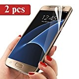 Galaxy S7 Protection Écran, Ubegood Samsung S7 Films de protection d'écran [2 Pack] Ultra Claire Sans Bulle Film Screen Protector ...