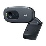 Logitech HD Webcam C270 Webcam HD avec microphone intégré USB Compatible Skype/MSN/Facebook Noir (version Europe Centrale)