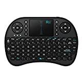 Rii Mini i8 Wireless (AZERTY) - Mini Clavier français, Ergonomique sans Fil avec Touchpad - Pour Smart TV, mini PC, ...